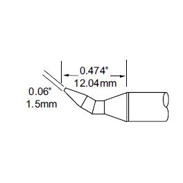 METCAL   SFP-CHB15凿型烙铁头